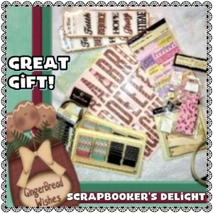 Scrapbooking Delight - 9pc assorted bundle all new